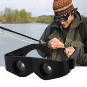 Portable Glass Style Black Telescope & Magnifier For Fishing Hiking Binoculars
