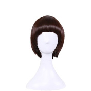 Hrph Fashion Sexy Women Wigs Straight Hair Ladies Girl Short Bob Neat Bangs Human Hair Natural Solid Colour Wig