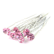 HAR1009 Hair Pins - 10 Crystal - Silver plated and stainless steel - Clip measures 70mm long perfect for any hair cut By Trimming Shop