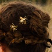 Handmadejewelrylady Bridal Vintage Wedding Party Crystal Rhinestone Bee Hair Clips Hair Accessories Women Headpiece