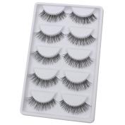 Bluelans® 5 Pairs Long Fake Eye Lash False Eyelashes Extension Makeup
