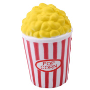 HENGSONG Lovely Popcorn Cup Shape Squishies Toy Slow Rising Relieves Stress Soft Toy for Children and Adult Toy Gift