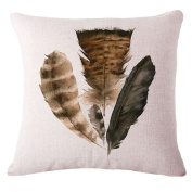 ZebraSmile Feather Throw Pillow with Filling Sofa Cushion Fashion Home Decorative Pillow Gift 43cm x 43cm