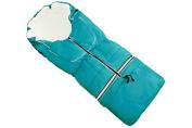 Footmuff Nils N-25 110cm Turquoise Blue 5 in 1 - Fleece Sled Child Stroller Buggy Winter Footmuff