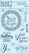 My Sentiments Exactly Clear Stamps 10cm x 15cm Sheet-Quick Colouring Circle