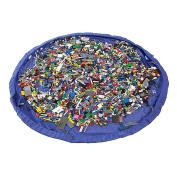 150CM 60Inch Toy Storage Bag Drawstring Organiser Kids Play Mat Blue