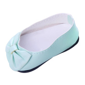 Sharplace Stylish Bow Shoes Sneakers for 46cm American Girl Our Generation Dolls Clothes Accessories Green