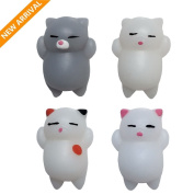 Mochi Squishy, Squishy Animals||Mochi Squeeze Toys||Squishy Cat Stress Reliever||Stress Relief Toys for Kids and Adults - Christmas gift