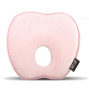 cartoon apple newborn baby memory foam pillow head shaping 0-6months infant sleeping . pink . 2