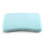 newborn baby memory foam pillow rectangle head shaping 0-36 months infant sleeping . blue . one size