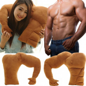 HLHN Boyfriend Muscle Arm Rest Pillow Body Hugging Throw Cushion for Help Single Girl to Sleep