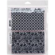Tim Holtz Cling Stamps 18cm x 22cm -rosette & Floret