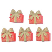 10 Pcs Red Christmas Gift Box Patches Appliques DIY Christmas Decorative Patches