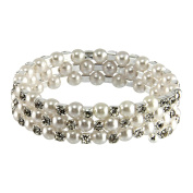 Wrap-Around Diamante and Pearl Corsage Bracelets! Fits All Sizes! UK DISPATCH![Rows]