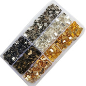 Chenkou Craft 6colors Loose Beads Ribbon Clamps End Jewellery Marking