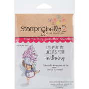 Stamping Bella Cling Stamp, 17cm x 11cm , Edna With A Cupcake On Top