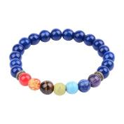 8mm 7 Chakra Stone Lpis Lazuli Onyx Beads Buddhist Prayer Mala Beads Yoga Stretch Bracelet