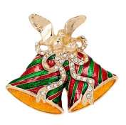 Lumanuby Brooch Christmas Series Eleagant Fashion Christmas Bells Design Brooch Pin For Wedding Alloy Shawl Clip Lover Gift Colourful
