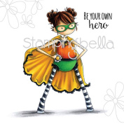 Stamping Bella Cling Rubber Stamp, 17cm x 11cm , Tiny Townie Hayley The Superhero