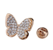 Cdet Brooch Pin Lovely Butterfly Alloy Brooch for Wedding Brooch Shawl Clip Christmas Gift Golden