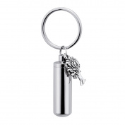 Cylinder Tree of Life Cremation Urn Keychain Memorial Urn Pendant Necklace Stainless Steel Cremation Jewellery