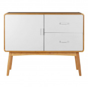 Protege Malmo Sideboard, Oak Wood / MDF, 1 Door / 2 Drawers