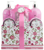 BRUBAKER Cosmetics 'Classic Rose' 13-Pieces Bath Set in Vintage Gift Box