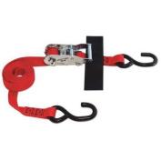 S-HOOK STRAP 2.5cm x 2.4m RATCHET (USA!) with Hook & Loop storage fastener