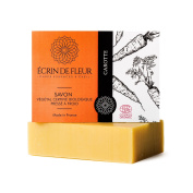 Ecrin De Fleur Certified Organic Carrot Soap – Antioxidant Carrot Soap with Shea Butter and Lemon - The Non Toxic, SLS & Chemical Free Soap Bar That Softens The Skin And Delights the senses.