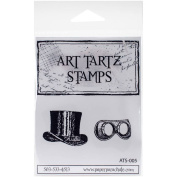 Art Tartz Cling Rubber Stamps, 6.4cm x 3.8cm , Hat and Glasses