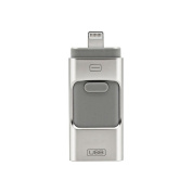 SummerYoung 32GB Flash Drive USB Memory Stick U Disc 3 in 1 for Android/IOS iPhone5 6 6S 7 8 X iPad PC
