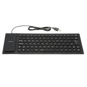 SummerYoung Wired USB Spillproof Roll Up Portable Folding Pocket Silent Typing Silicone Keyboard