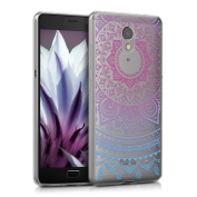 kwmobile Crystal TPU Silicone Case for Lenovo P2 in Design Indian sun blue dark pink transparent
