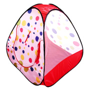 POCO DIVO Polka Dot Pyramid Playhouse Toddler Mesh Ball Pit Kids Triangle Play Tent Indoor Outdoor Teepee Children Toy House