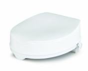 Savanah Raised Toilet Seat with Lid 10cm/4 by HealthLand