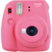 FujiFilm Instax Mini 9 Instant Camera Flamingo Pink, with 10pk Film Now you can instagram your
