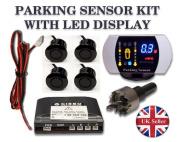 Champagne 4 sensors Parking Reversing sensor buzzer & LED display