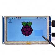 GeeekPi 13cm HDMI Monitor LCD Resistive Touch Screen 800x 480 LCD Display USB Interface for Raspberry Pi 3 / 2 Model B / B+ & Banana Pi