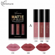 Sixcup 3PCS Beauty Sexy Non-stick Cup Waterproof Lipgloss Matte Liquid Lipstick Long Lasting Lip Gloss Matte Lipstick Style