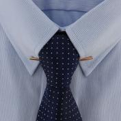 Men's Rose Gold Tone Collar Bar Clip USA Made 5.4cm
