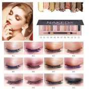 Sansee Cosmetic Makeup Shimmer Matte Naked 12 Colours Eyeshadow Palette