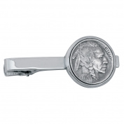 Smithsonian Institution Buffalo Nickel Silvertone Coin Tie Clip