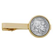 Smithsonian Institution Buffalo Nickel Goldtone Coin Tie Clip