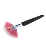 Sharplace Wooden Handle Large Fan Shape Makeup Brush Powder Foundation Contour Tool - 2, as described