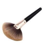 Sharplace PRO Fan Shape Large Face Powder Sector Makeup Brush, Soft Foundation Blending Contour Brush Make Up Comestic Tool