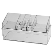 Domybest Clear Cosmetic Box Makeup Organiser Lattices Lipstick Jewellery Display Holder Storage Boxes