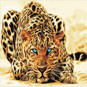 DIKEWANG Newest Best Gift DIY Digital Oil Painting Kit Leopard Animal By Numbers On Canvas Unframed Home Decoration, Enjoy Your DIY Crafts