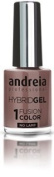 Andreia Hybrid Gel - 2 Steps and No Lamp Required Long Lasting and Easy Removal - Fusion Colour H8