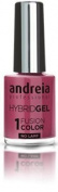 Andreia Hybrid Gel - 2 Steps and No Lamp Required Long Lasting and Easy Removal - Fusion Colour H19