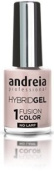 Andreia Hybrid Gel - 2 Steps and No Lamp Required Long Lasting and Easy Removal - Fusion Colour H10